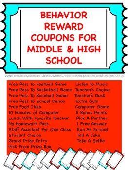 Behavior reward tickets high level behavior rewards and homework pass 23 tickets to reward good behavior at the middle and high level fandeluxe Gallery