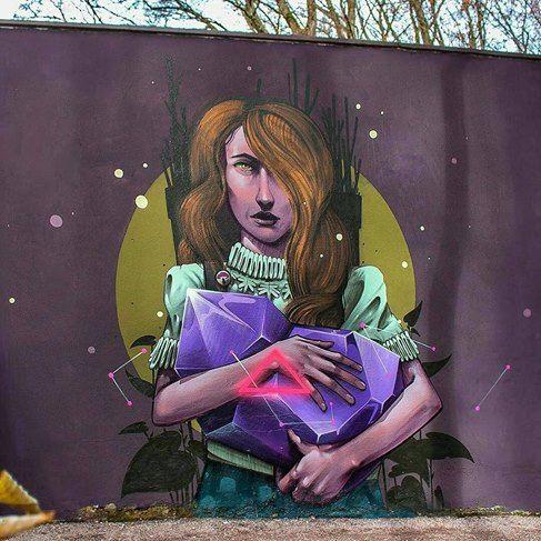 "Mr Woodland, ""Kaleidoscpe"" in Erding, Munich, Germany, 2016"