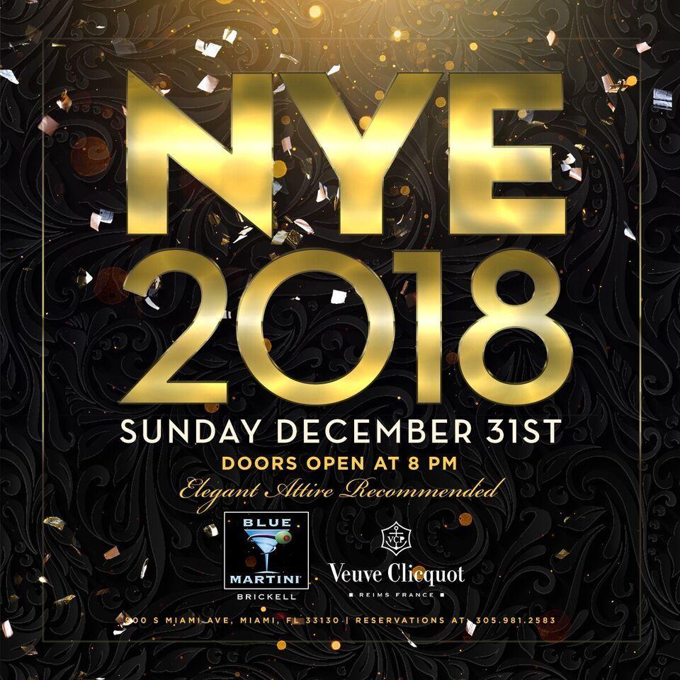 NEW YEAR'S EVE 2018 Brickell NEW YEAR'S EVE 2018 Sunday