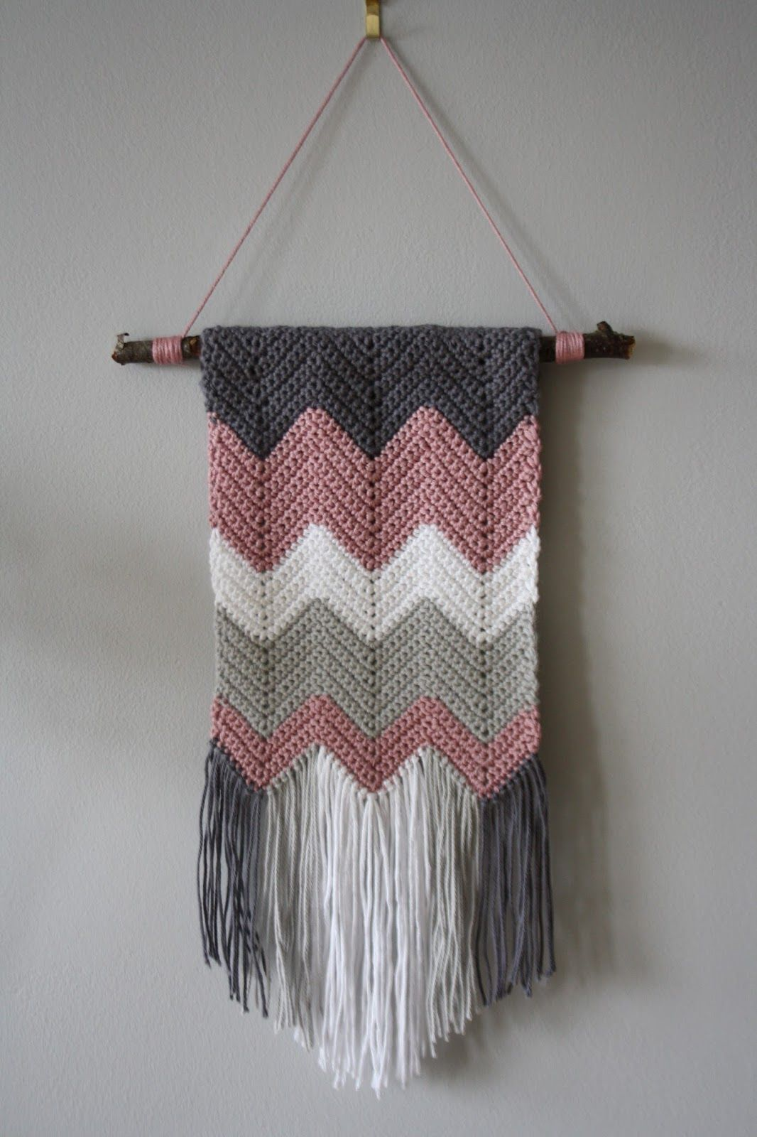 Tales From A Happy House A Crocheted Zigzag Wall Hanging