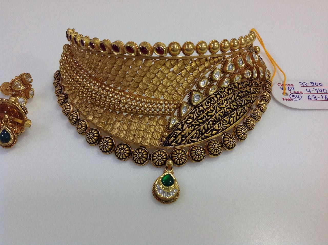 Necklace | Aentik rajvadi | Pinterest | Gold jewellery, Gold and ...