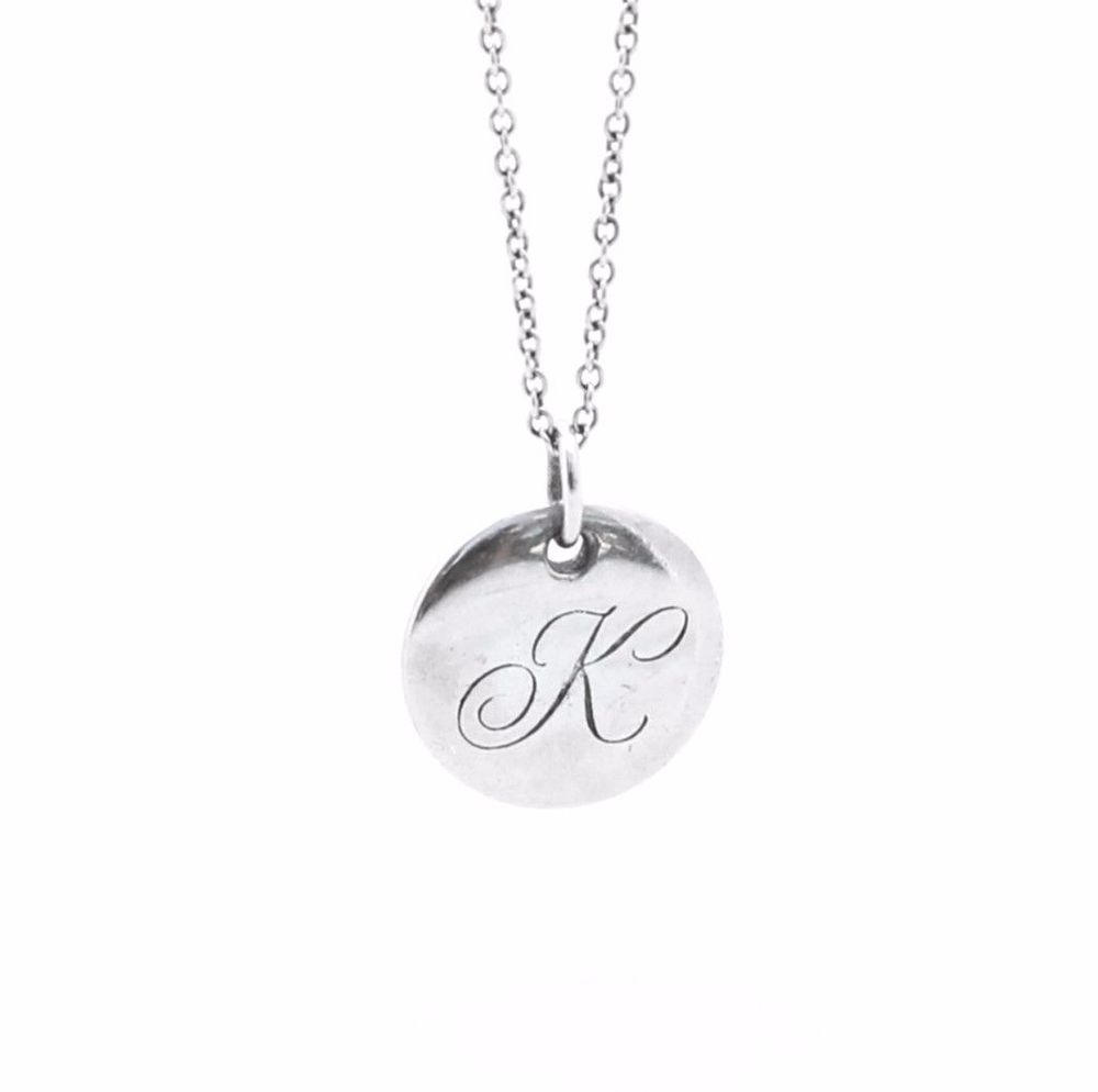 Tiffany co initial k letter pendant on chain 16 necklace 925 tiffany co initial k letter pendant on chain 16 necklace 925 sterling silver aloadofball Gallery