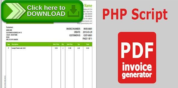 Free nulled PDF Invoice Generator v 10 download Generators - pdf invoice generator