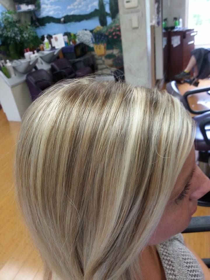 Two Color Foil Blonde And Brown In Blonde Hair Blondehighlights