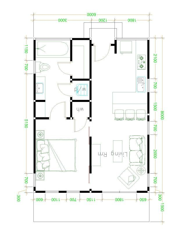 Cottage Inspired One Bedroom House Design Pinoy Eplans Cottage Floor Plans Bathroom Floor Plans Tiny House Plans