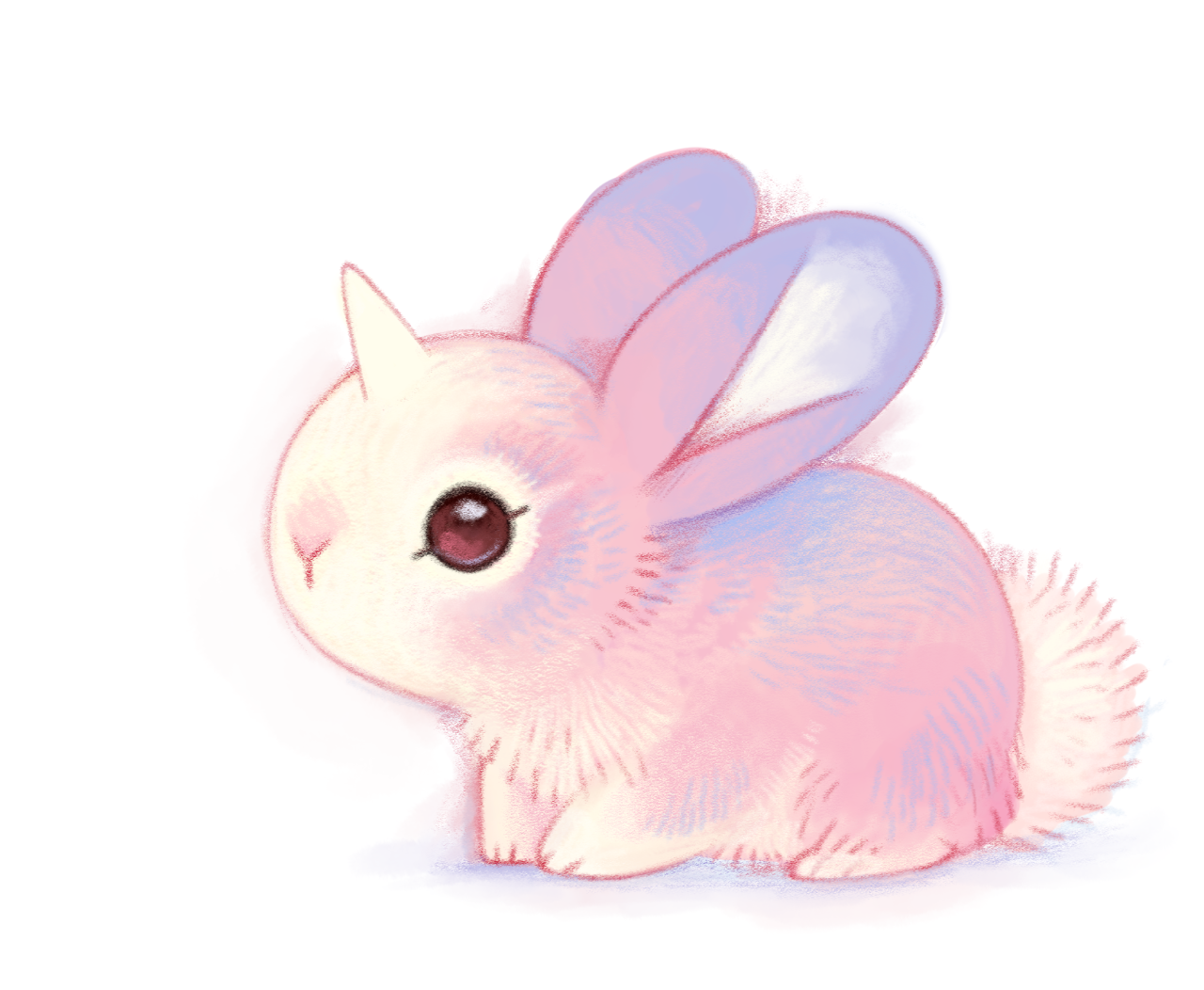 Bunnicorn Or Unibunn Animal Drawings Cute Animal Drawings Cute Art