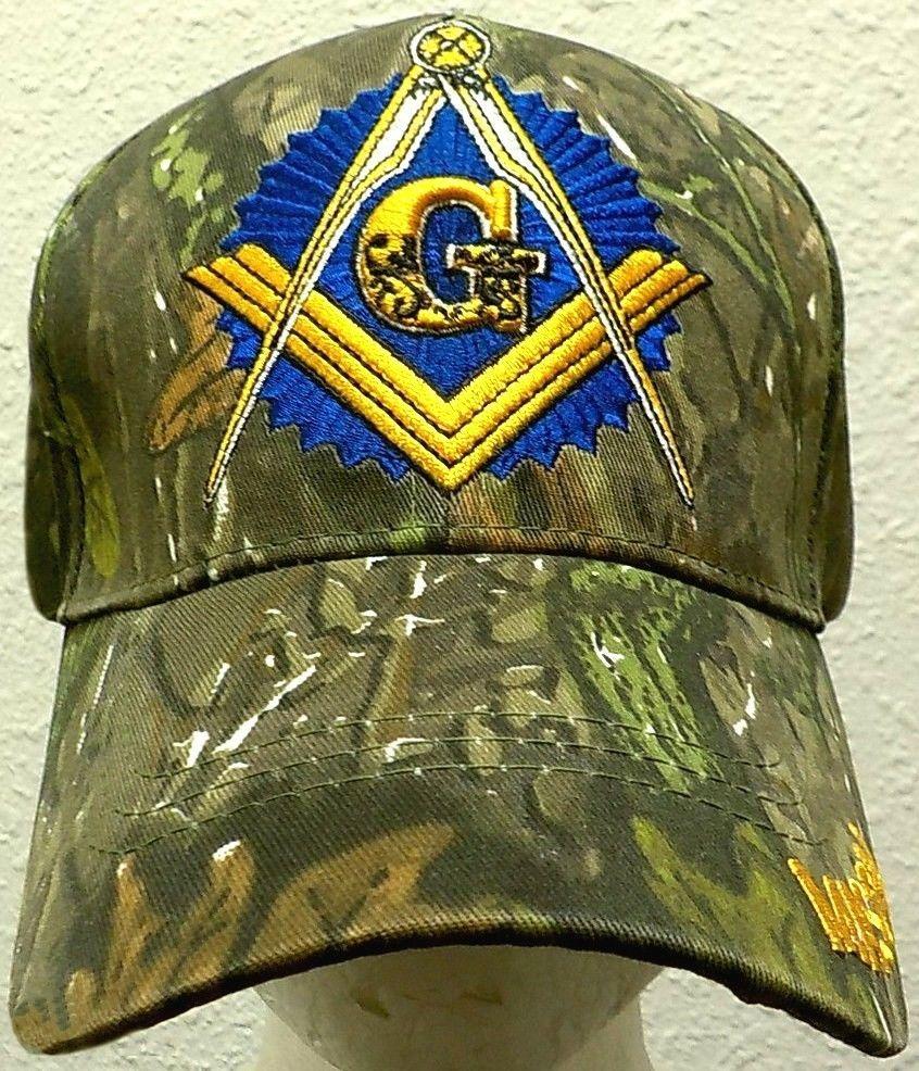 Camo Mason Masonic Freemasonry Freemason Masonry Lodge Square Compasses Cap Hat Premiumqualityhats Ballcap Hats Freemasonry Masonic