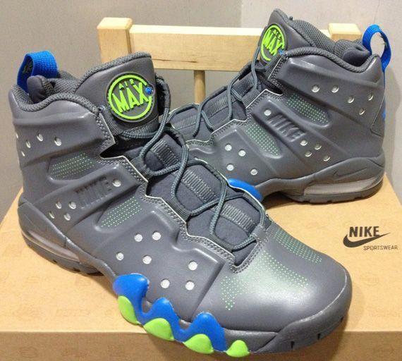 Nike Air Max Barkley Dark Grey Photo Blue Action Green  acb972fa7738