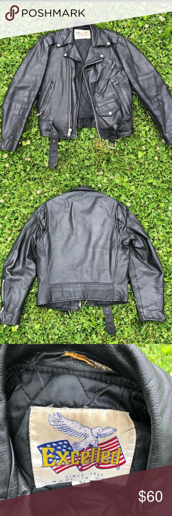 Vintage Leather Biker Jacket Vintage Jacket Jackets Leather Biker Jacket [ 1740 x 580 Pixel ]
