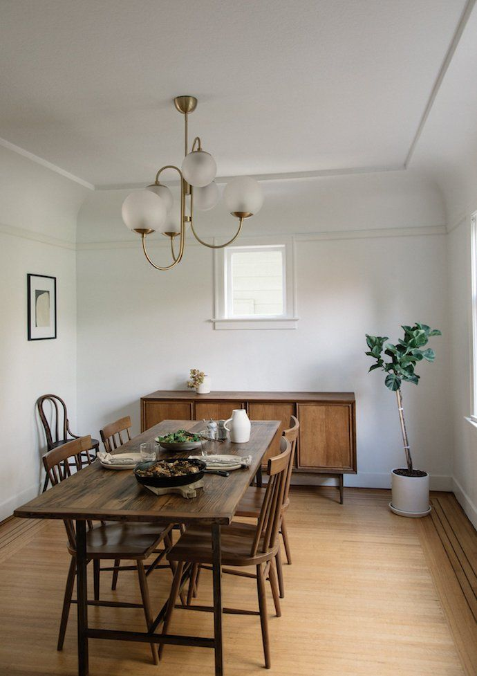 How This New Mama Turned Her Rental Into A Minimalistic Dream Home Mesmerizing House Beautiful Dining Rooms Minimalist