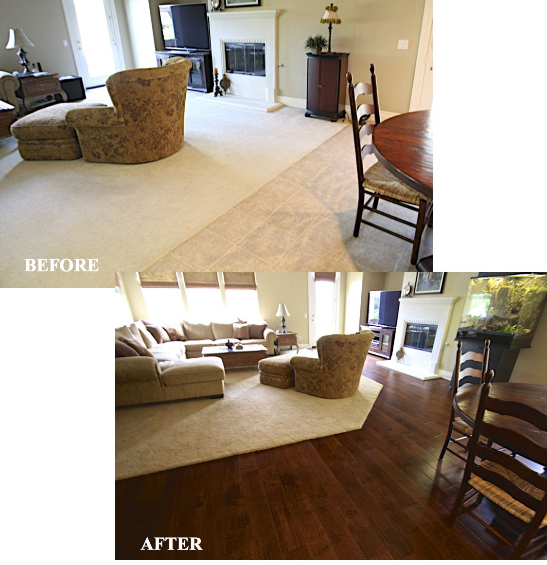 Living Room Hardwood Floor: You Can Still Have The Beautiful Look Of Hand Scraped