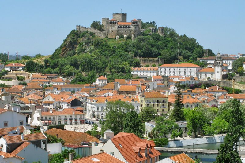 PORTUGAL Leiria and its Castle.