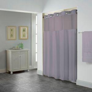 Hookless Shiny Herringbone 3 In 1 Shower Curtain Purple Purple