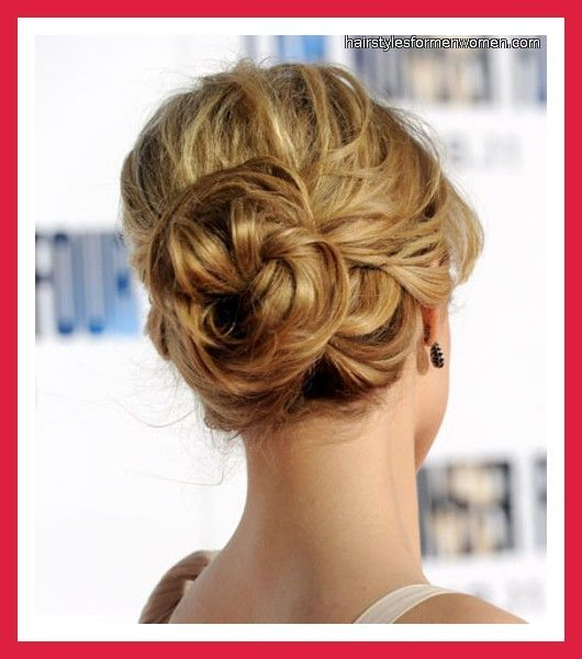 Up Hairdos For Thin Hair: Medium Length Half Up Half Down Prom Hairstyle For Thin