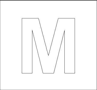 Capital Letter M Alphabet Stencils Page...