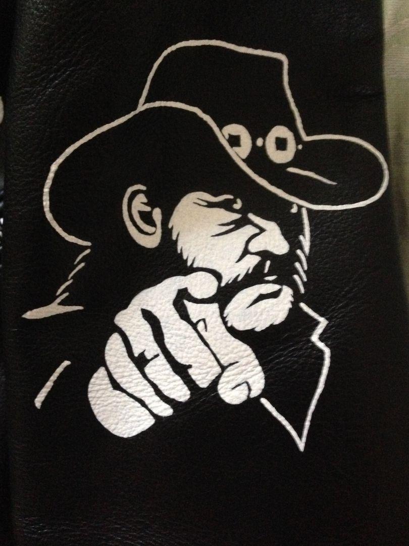 0c229d2548a42 Painted Jackets - Nadja's Art #Lemmy | Motörhead | Painting leather ...