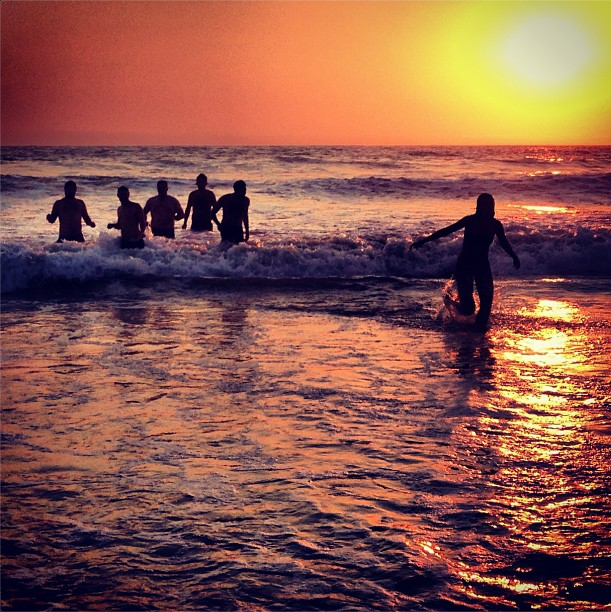Living the Dream. central coast sunset ocean dips are the best.
