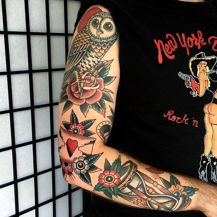 Tattoo By Lewisparkin Traditional Traditionaltattoo Traditionalartist Oldtattoo Oldschooltattoo Tattooarti Tatuaz Tradycyjny Tatuaze Tatuaz