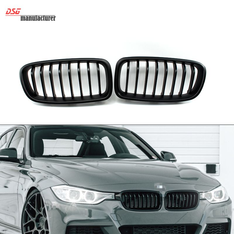F31 Wide Kidney Matte Black Grill For Bmw 3 Series 2012 2013 2014
