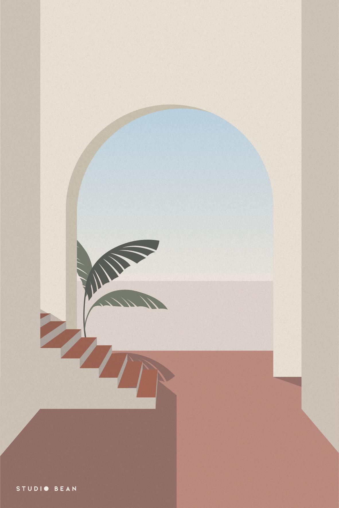 July postcard Design