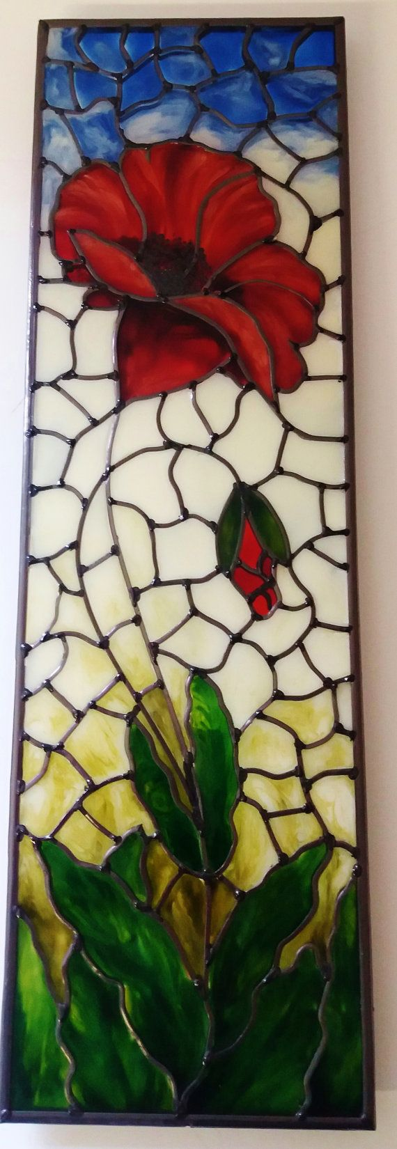 A bespoke Art Nouveau ~ 1920s Tiffany style inspired, stained glass ...