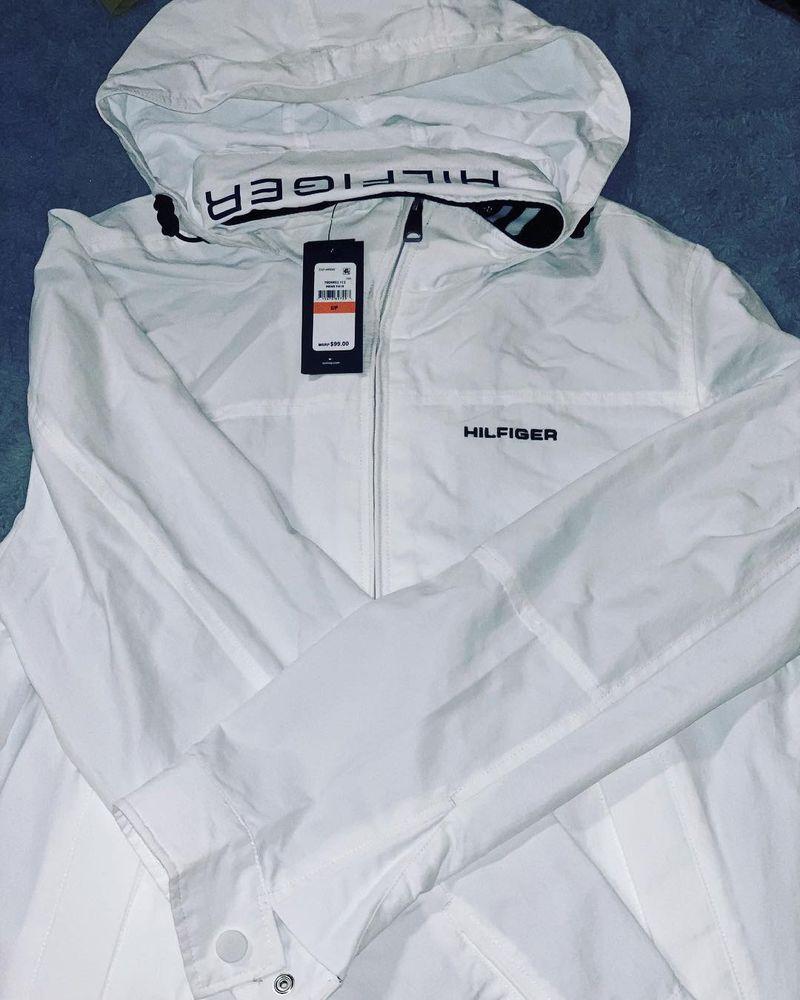 New Tommy Hilfiger Mens Yacht Jacket White Windbreaker Sz Small Water Resistant Fashion Clothing Shoes Accessories M White Windbreaker Windbreaker Jackets [ 1000 x 800 Pixel ]