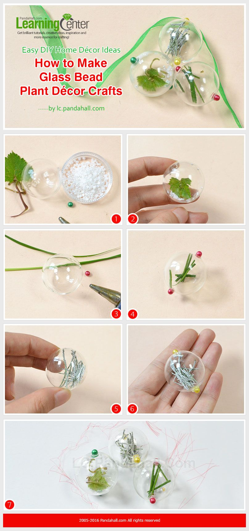 Easy DIY Home Décor Ideas - How to Make Glass Bead Plant Décor ...