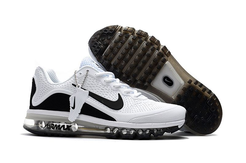 Men s Nike Air Max 2017 KPU Running Shoes True White Black 898013 ... 02cd72cc8