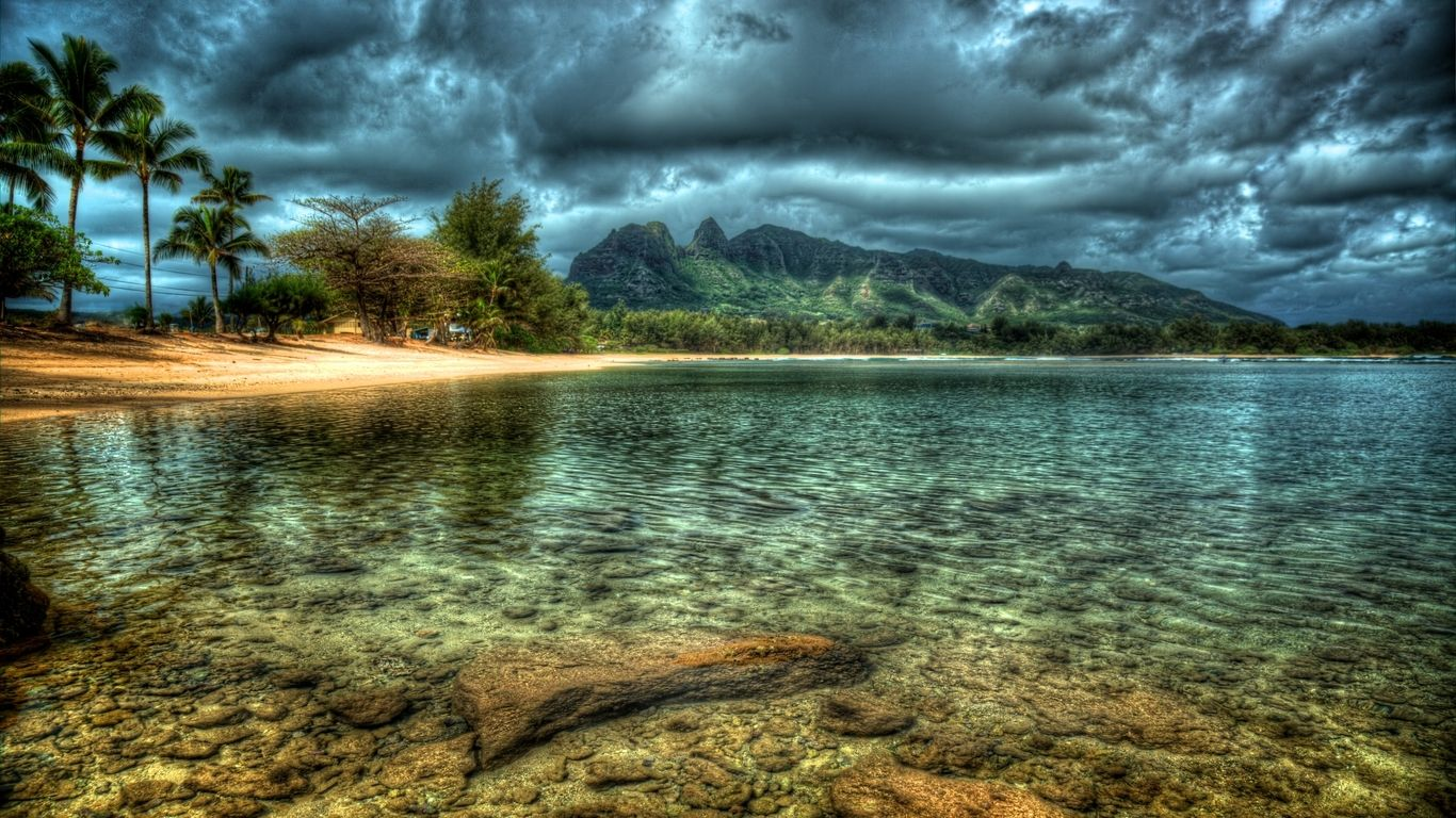 Higher resolution picture of Kauai beach hawaii island