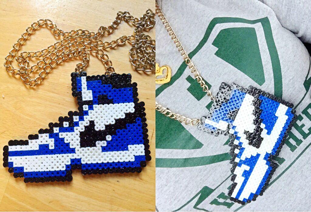 cerca lotería Llamarada  Craft With perler beads #Nike | Hama beads design, Perler beads, Perler  beads designs