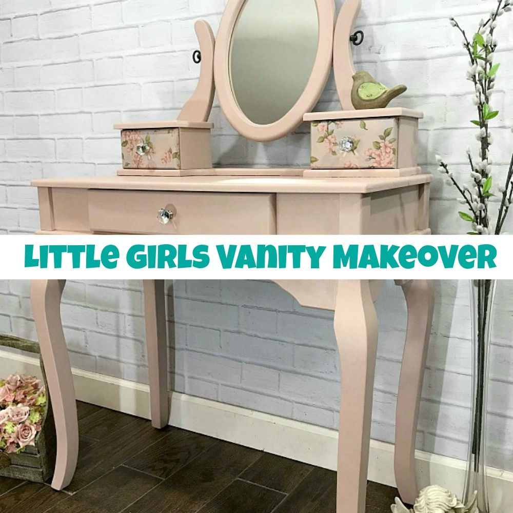 Little Girls Vanity Makeover from Trash to Treasure ...