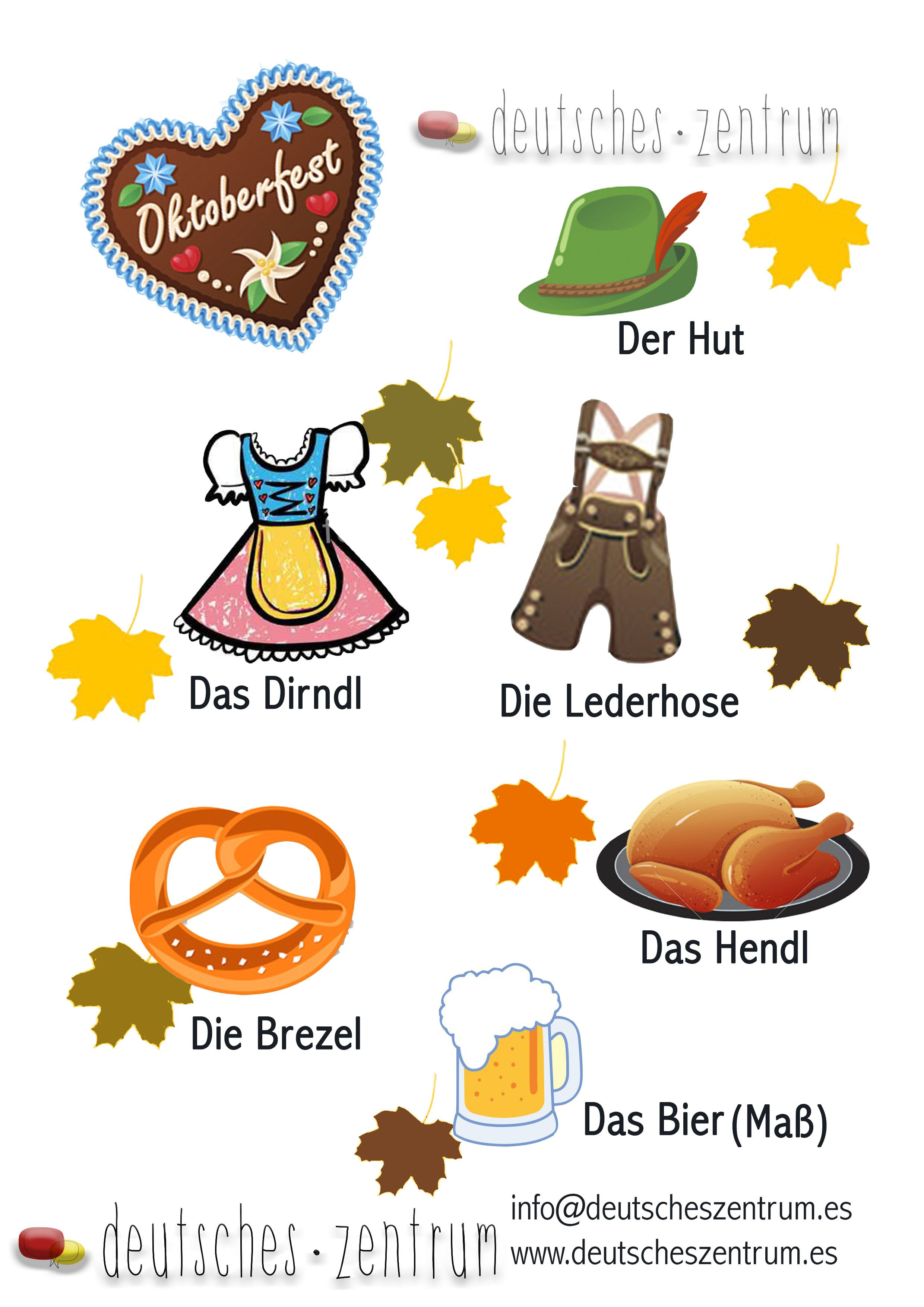 Oktoberfest / Wortschatz /Vocabulario / Deutsch / Alemán / DAF ...