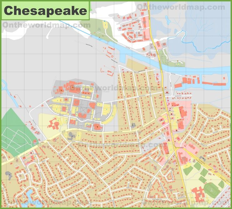 Chesapeake city center map Maps Pinterest Usa cities and City