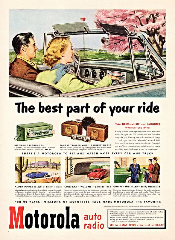 Automobile TV Commercials of Past radio too!