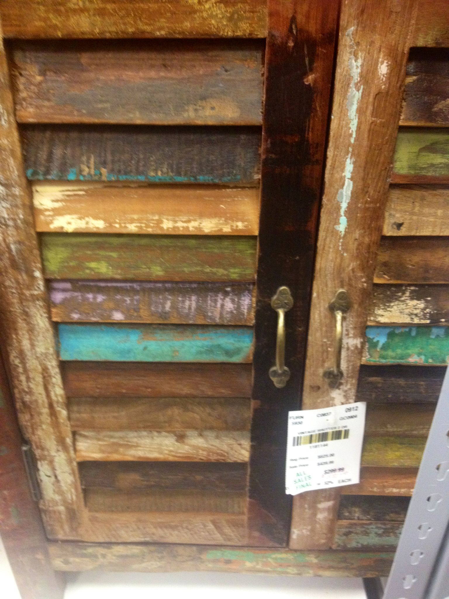 Distressed Louvered Doors
