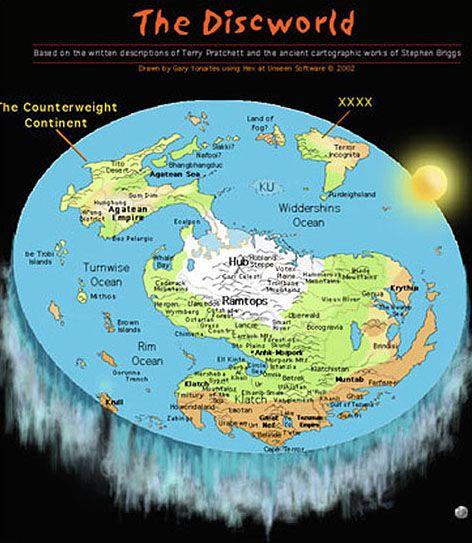 Discworld Free Pattern Flache Erde Landkarte Und Welt