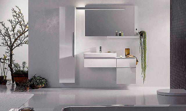 ensemble blanc meuble 1 tiroir et colonne basse blanc brillant Allia