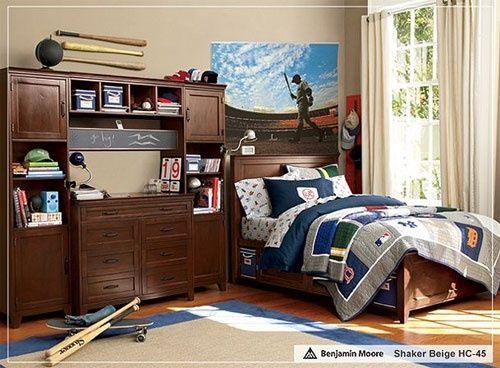 Boys Baseball Room Ideas   Nice Baseball Themed Room.   Teenage Boys Room