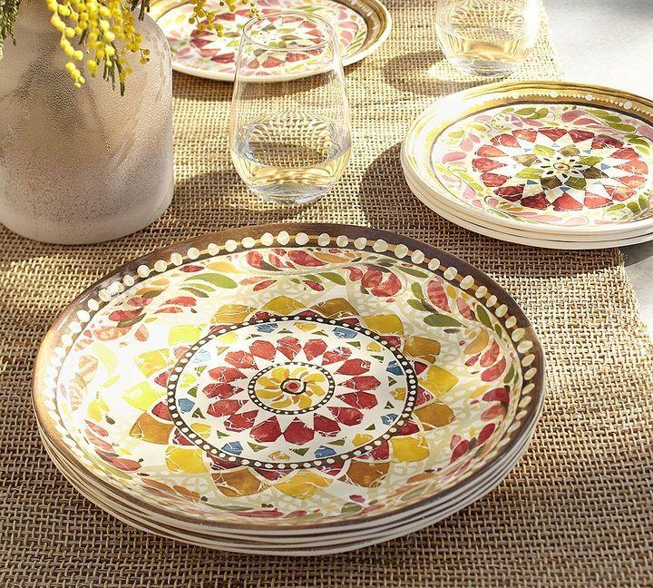 Pottery Barn Barcelona Melamine Dinnerware, Set Of 4