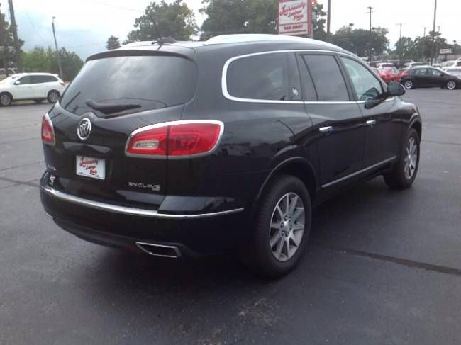 Used 2017 Buick Enclave Leather Suv Elkhart 3 6l V 6 Cyl 6 Speed Automatic All Wheel Drive Exterior Color Ebo Colorful Interiors Buick Enclave Elkhart