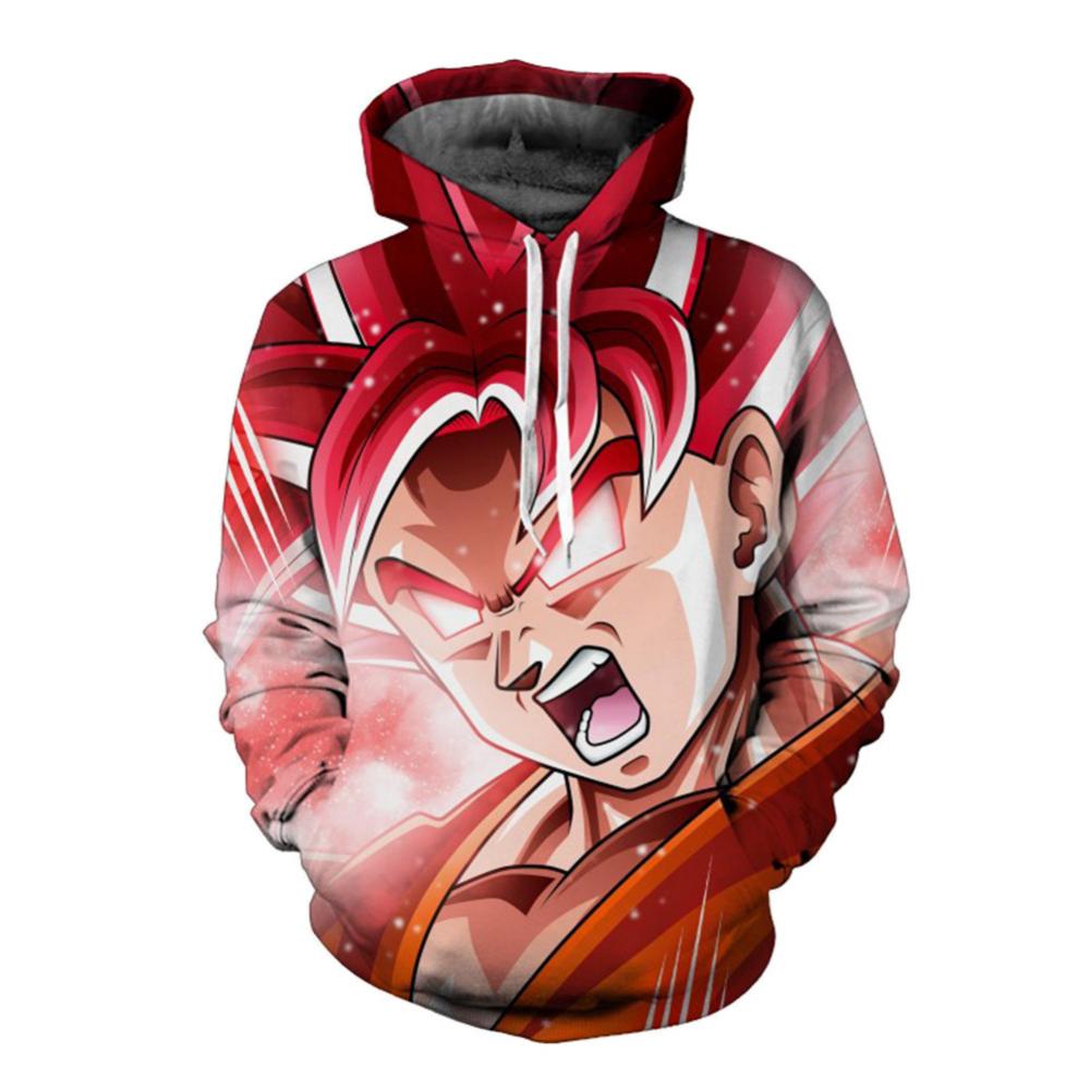 2019 New Fashion 3D Hoodeds Anime Dragon Ball Z Goku Super