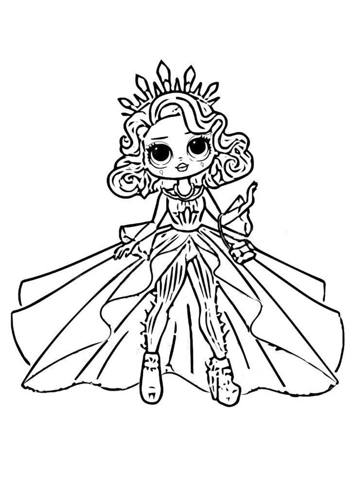 Ausmalbilder Drucken Lol Omg Zum In 2020 Unicorn Coloring Pages Coloring Pages Lol Dolls