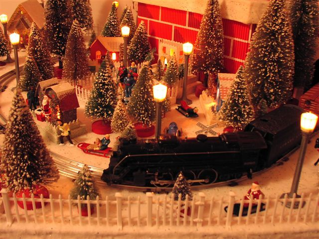 Christmas trains and village Christmas Decorations Pinterest