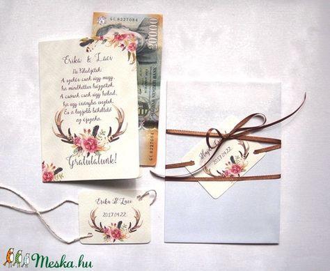 házassági gratulációs idézetek Pénz átadó boríték, Nászajándék, Gratulálunk képeslap, Esküvői