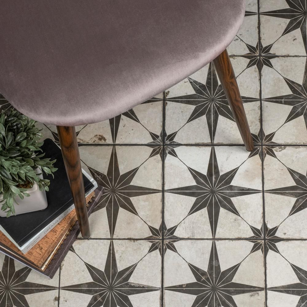 Merola Tile Take Home Sample Kings Star Nero 9 In X Ceramic S1fpestrn The Depot Outdoor Tiles Wall Patterns Floor And
