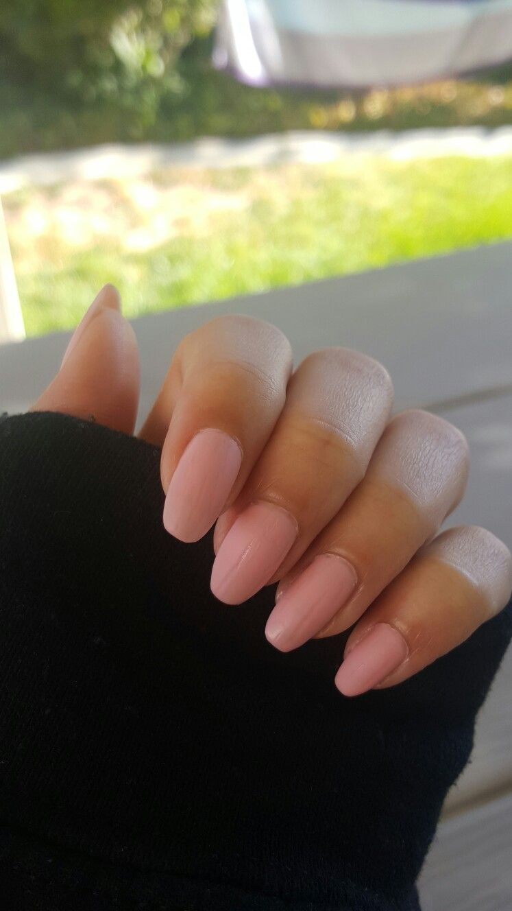 Natural, almond shape nails with a matte baby pink! | Nails | Pinterest