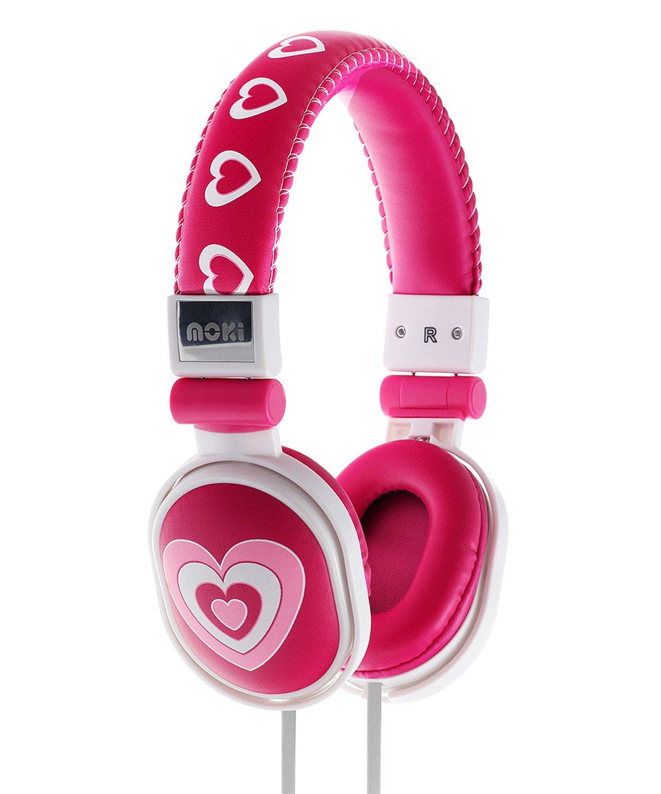 Another great find on #zulily! Three Hearts Volume Control On-Ear Headphones by Moki International #zulilyfinds