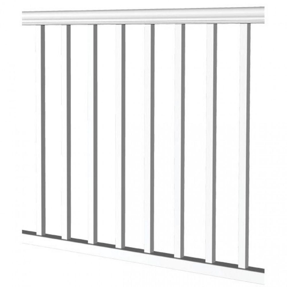 Rdi 10 Ft X 36 In Vinyl Level Rail Kit For 1 1 4 In Square Baluster 73018157 Wood Deck Railing White Vinyl Vinyl Railing