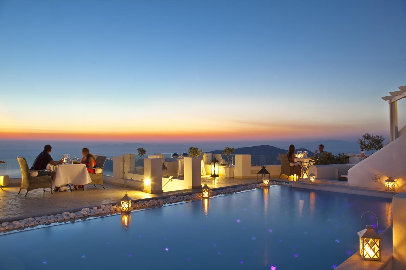 honeymoon dining with a view at above blue suites santorini greece europe honeymoon. Black Bedroom Furniture Sets. Home Design Ideas
