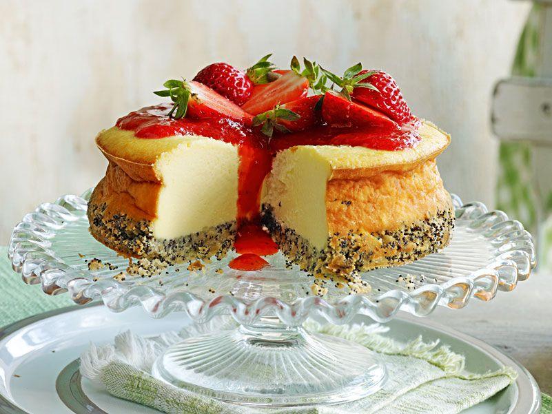 Erdbeer-Mohn-Cheesecake